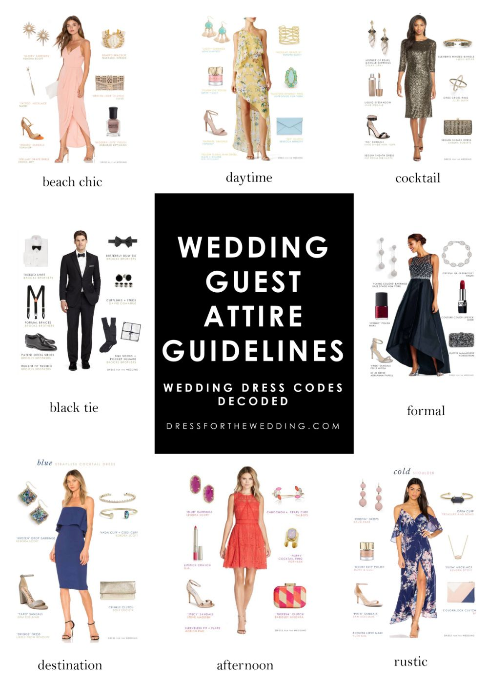 Wedding Guest Attire Guidelines Dress Code Wedding Fall Wedding
